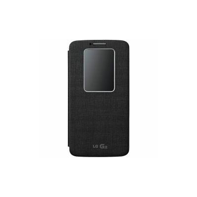 LG Optimus G2 flip cover hívás mutató tok, Fekete